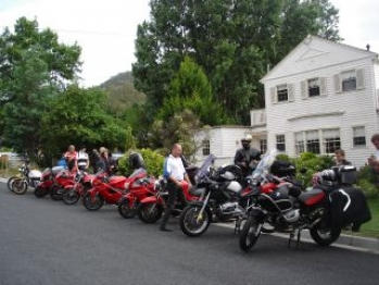 Group with motor bikes