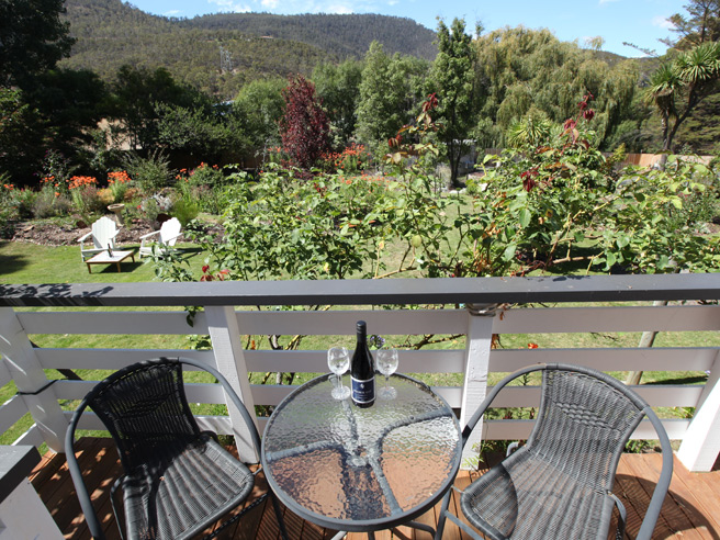 sassafras apartment deck view